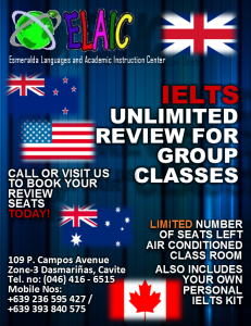 IELTS review flyer